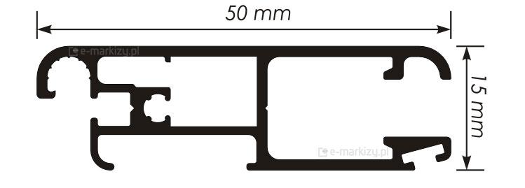 Moskitiera Slider profil wymiary, moskitiera dane techniczne