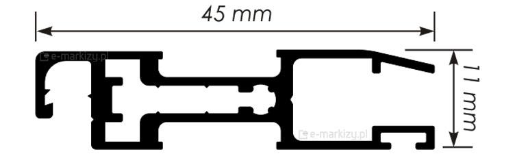 Moskitiera Slim profil wymiary