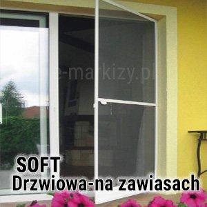 Moskitiera Soft Mol z magnesem, drzwi z moskitierą