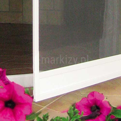 Moskitiera Soft próg dolny drzwi otwieranych na zawiasach