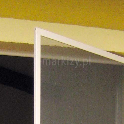 Moskitiera Soft ramka biała, moskitiera 2 zawiasy