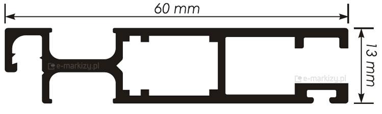 Moskitiera Solid proifl wymiary