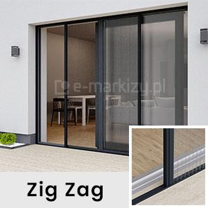 Moskitiera Zig-Zag Mol, moskitiera drzwiowa mol, e-moskitiery, sklep internetowy moskitiery