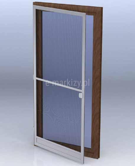 Moskitiera drzwiowa na zawiasach saloon, siatka moskitowa na drzwi