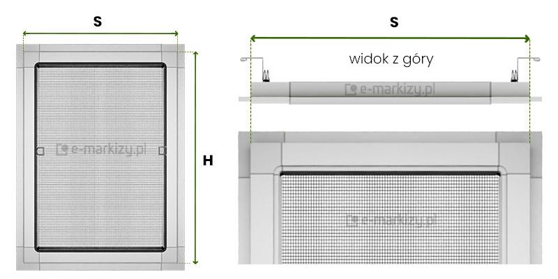 jak mierzyć moskitiery na wymiar