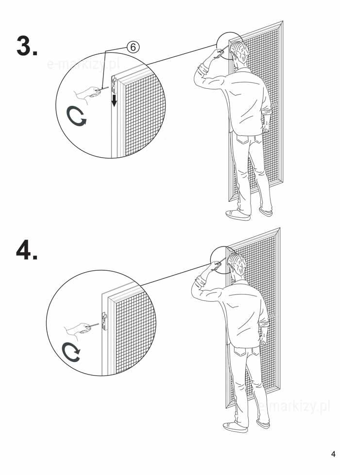 Moskitiera slim montaż moskitiery przesuwnej na profilu typ S