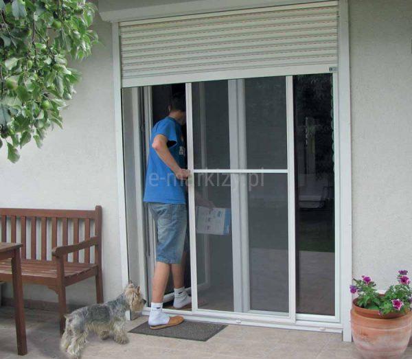 Moskitiera slim przesuwna, moskitiera na drzwi podwójne