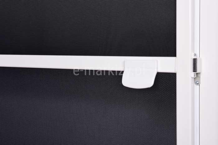 Moskitiera soft klamka biala, kolor konstrukcji biały