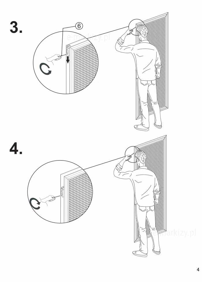 Moskitiera solid, montaż moskitiery na profilu s