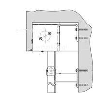4. Prowadnice Alu. Montaż kasety do ściany, prowadnice na uchwytach