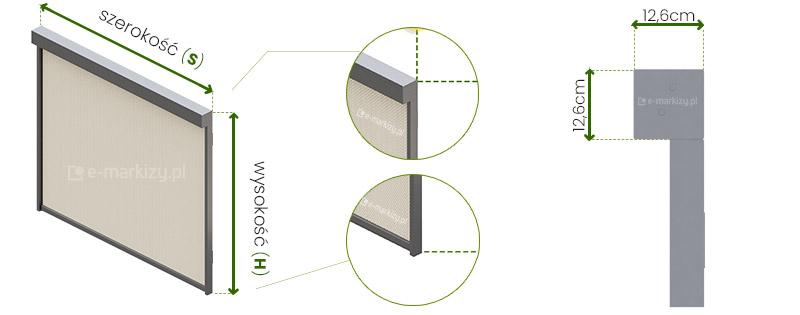 Refleksol Ziiip 120 Selt wymiarowanie, pomiar refleksola, refleksole wymiary