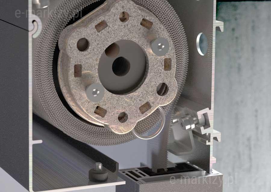Refleksole Ziiip 120 kaseta kwadratowa, przekrój kasety refleksola