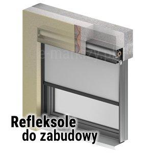 Refleksole do zabudowy, refleksole podfasadowe, refleksol podtynkowy, refleksole pod elewację