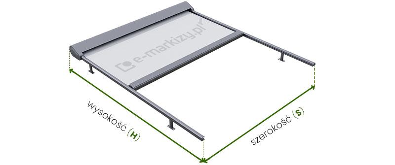 System veranda selt pomiar, osłona pozioma jak mierzyć, rolety poziome wymiarowanie