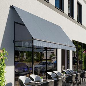 Markiza balkonowo-sklepowa bezkasetowa, markiza na balkon bez kasety, markiza do sklepu