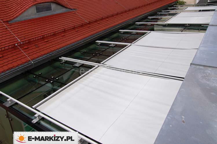 Osłona dachowa veranda selt, selt zadaszenia, Roleta na dach