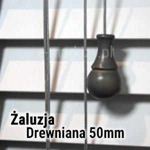 Żaluzja drewniana 50mm wycena, żaluzje drewniane wycena online, żaluzje poziome 50mm na wymiar