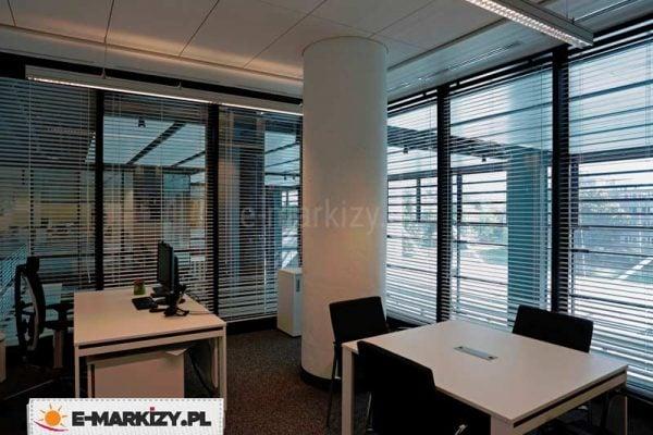 Żaluzje biurowe c50 slim, żaluzje pionowe cena za m2, żaluzje wewnętrzne biurowe