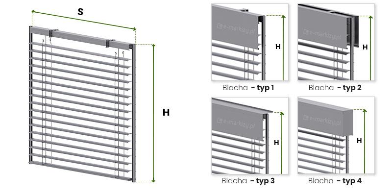 Żaluzje c80 listwowe wymiarowanie, jak mierzyć żaluzje z prowadzeniem listwowym