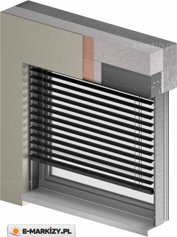 Żaluzje fasadowe podtynkowe c80 box, żaluzje podtynkowe na wymiar