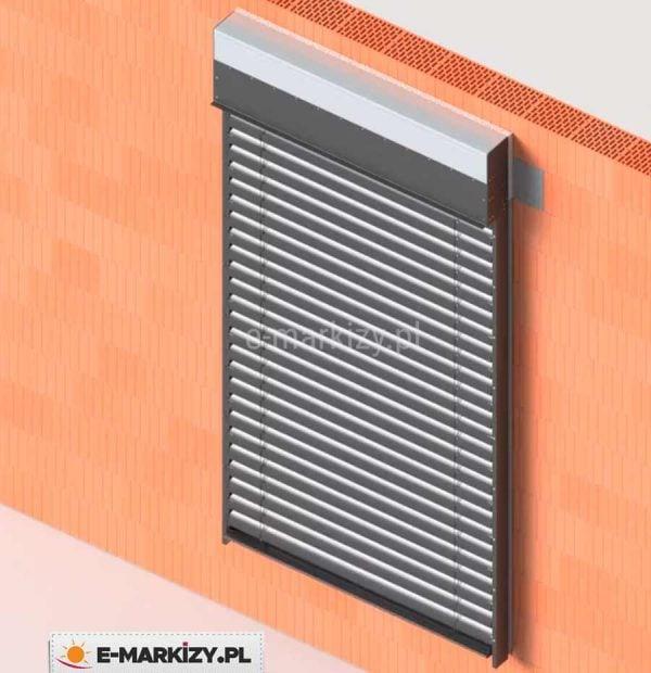 Żaluzja c80 box zamknięta, montaż żaluzji podtynkowej