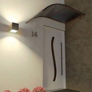 Daszek nad drzwi łuk z jednej strony, producent daszków, dystrybutor daszków, daszki cała Polska