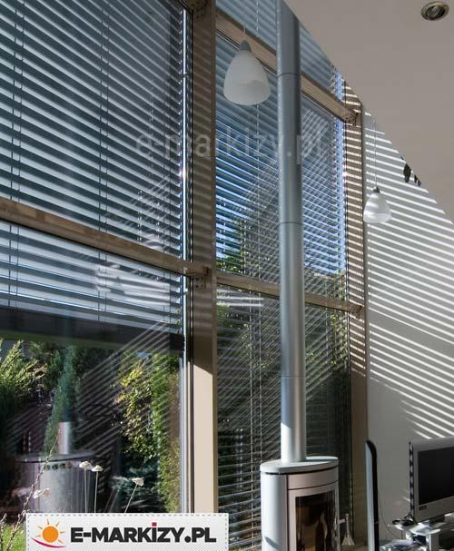 Żaluzje zewnetrzne aluminiowe z90, żaluzje automatyczne, żaluzje do biura
