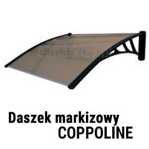 Daszek modułowy coppoline wycena, daszki drzwiowe łączone, daszek balkonowy łączony