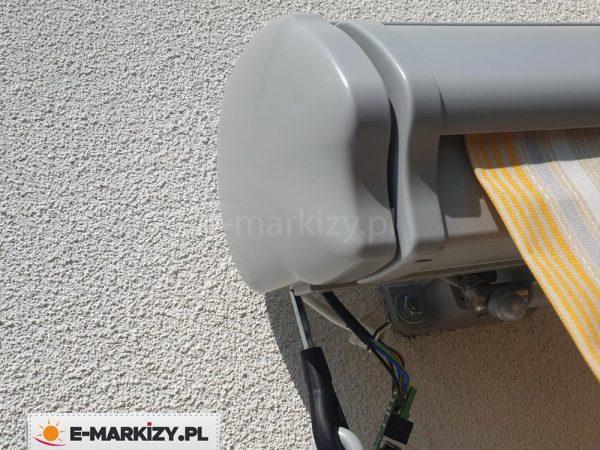 Markiza dakar zaślepka boczna, zasilanie markizy z silnikiem
