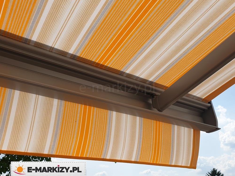 Markiza kasetowa dakar selt, belka przednia markizy, łącznik ramienia i belki przedniej markizy