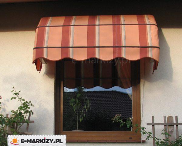 Markiza nad okno koszowa, markizy okienne, markiza prosta koszowa wycena