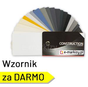 katalog kolorów konstrukcji, wzornik kolorów konstrukcji, kolory konstrukcji refleksole markizy żaluzje