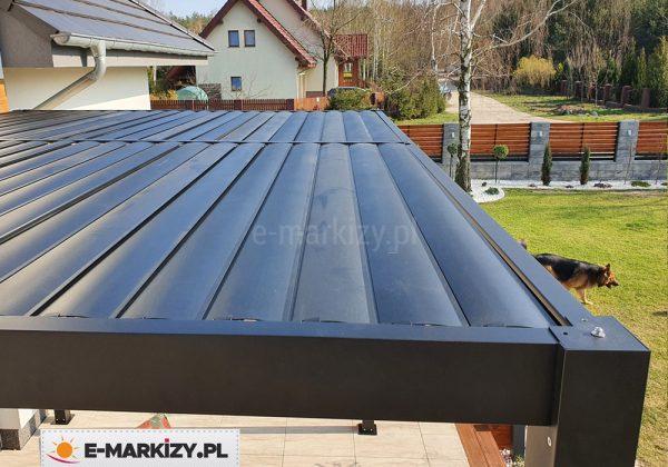 Pergola tarasowa 4-metrowa lamelowa, pergola aluminiowa 300x400, regular