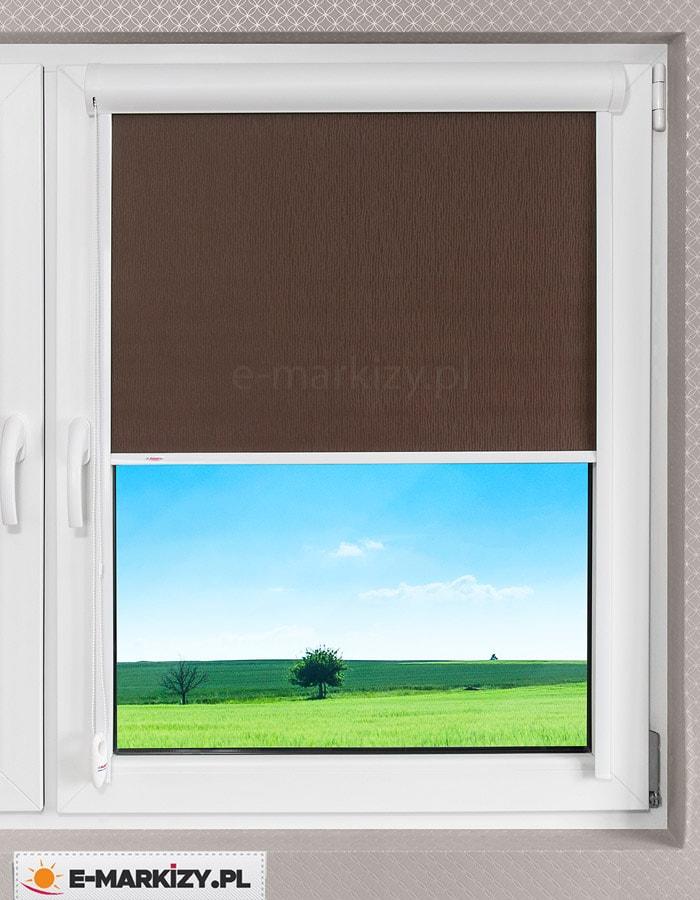 Roleta okienna w kasecie, osłony lux kombi, prowadzenie przestrzenne rolety