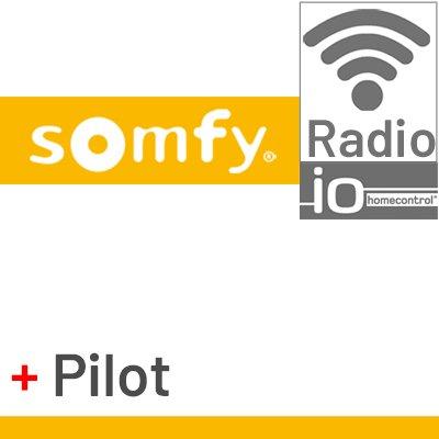Silnik Somfy Sunea IO z wbudowaną centralką i pilotem bezprzewodowym