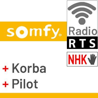 Silnik Somfy Sunea z wb. centralką i awaryjnym otwier. i pilotem bezprzewodowym
