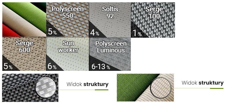 Tkaniny refleksolowe, wzornik tkanin do refleksoli