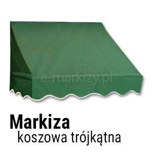 Markiza koszowa trójkątna wycena, markizy trójkątne