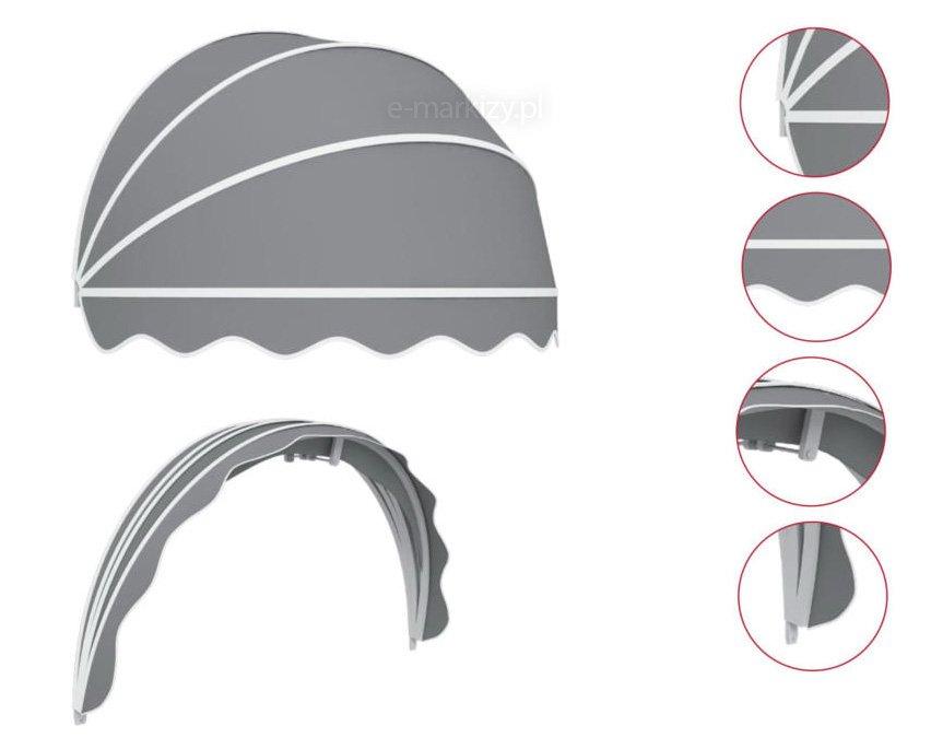 Markizy koszowe półokrągłe dane techniczne, markiza koszowa szczegóły