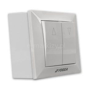 Przełącznik do markiz yooda, przełącznik natynkowy 667102 + ramka 017111L