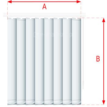 Vertical pasy tkaniny wymiarowanie, tkaniny do żaluzji pionowych