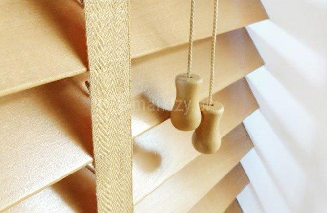 Żaluzja drewniana retro 50mm wycena, eleganckie żaluzje drewniane