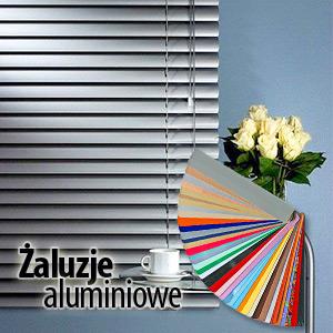 żaluzje aluminiowe wzornik lameli