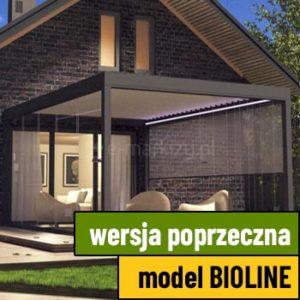 Pergola tarasowa bioline przyścienna poprzeczna wycena