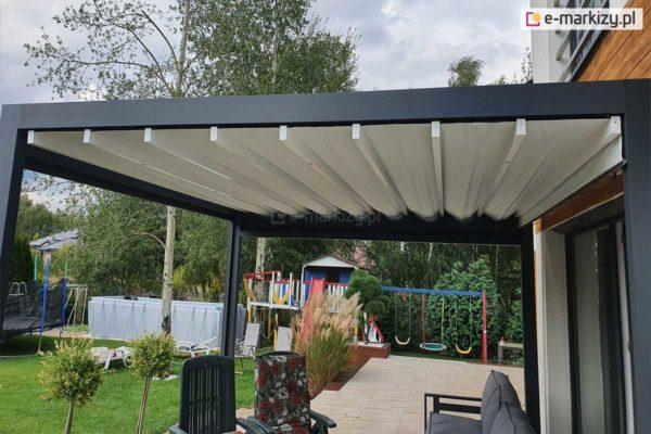 Pergola z rozwijanym dachem, pergola luxury rozwijany dach tkaninowy