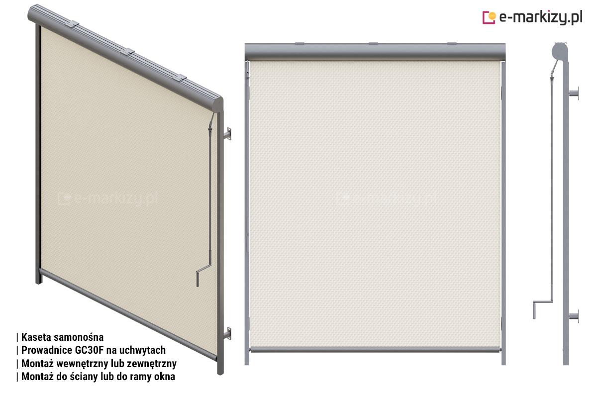 R103 prowadnice gc30f na uchwytach ręczny, Refleksol 103 sposoby montażu