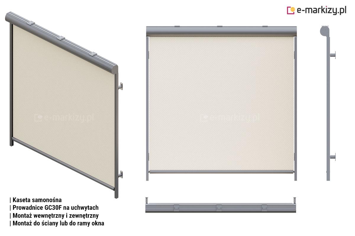 R103 prowadnice gc30f na uchwytach, Refleksol 103 sposoby montażu