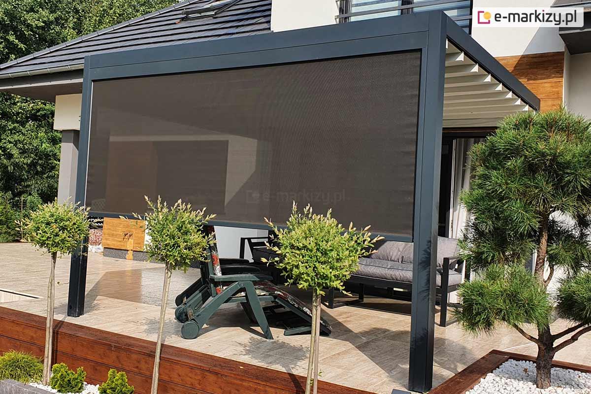 Zadaszenie tarasowe screen, Pergola luxury z roletą screen