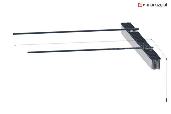 Dach tarasowy na prowadnicach costa, zadaszenie perogli wycena