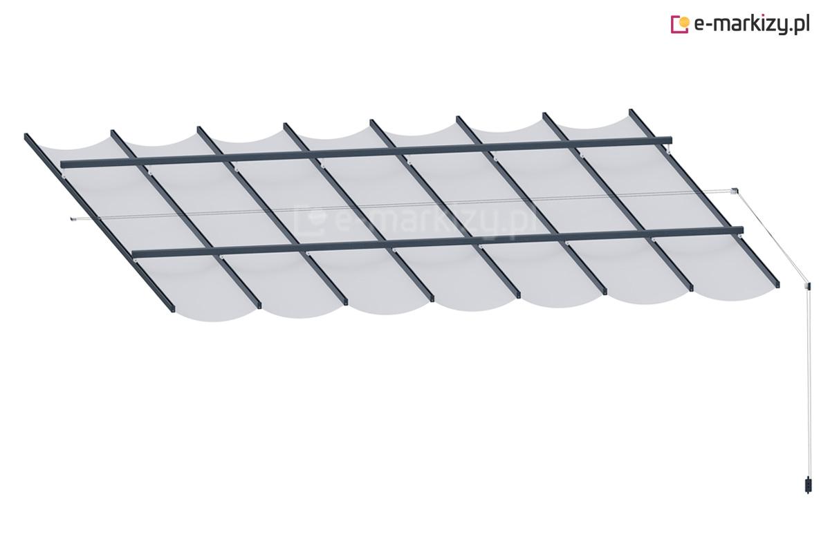 Dach tkaninowy na prowadnicach costa, tkanina do pergoli wycena